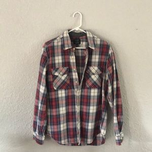 J.Crew Red and Blue Heavyweight Flannel